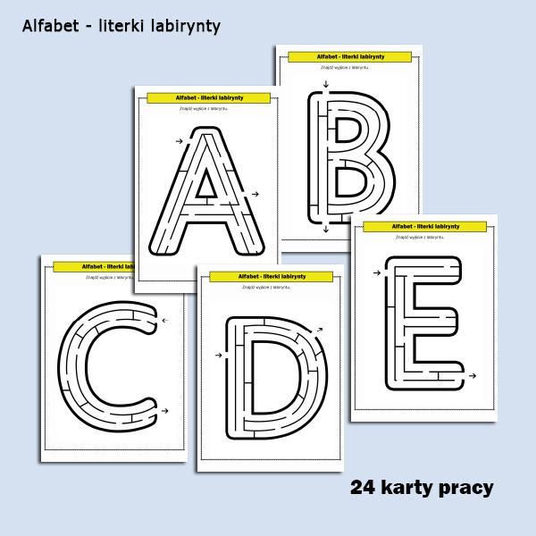 alfabet literki labirynty (1)