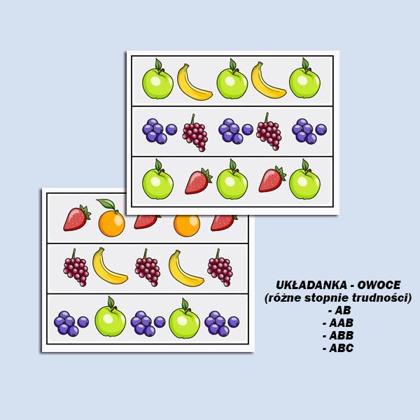 Układanka owoce (1)