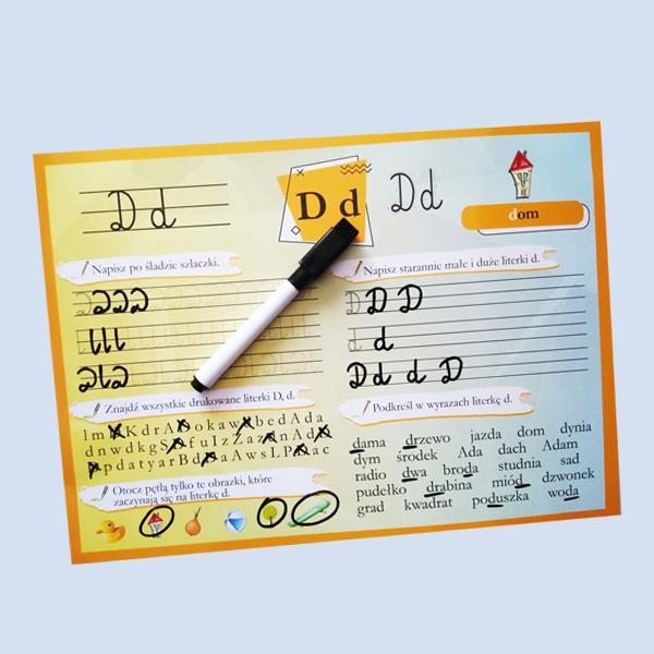 alfabet literka D