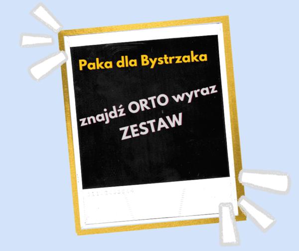 Etykieta Znajdź Ortowyraz Zestaw