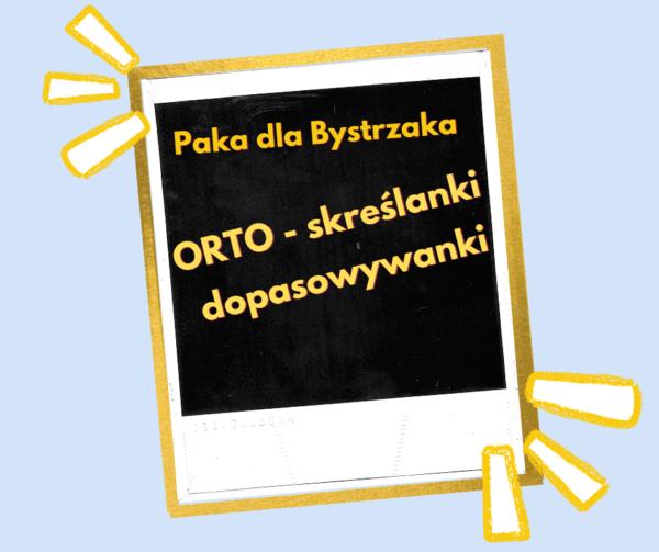 Orto- skreślanki etykieta