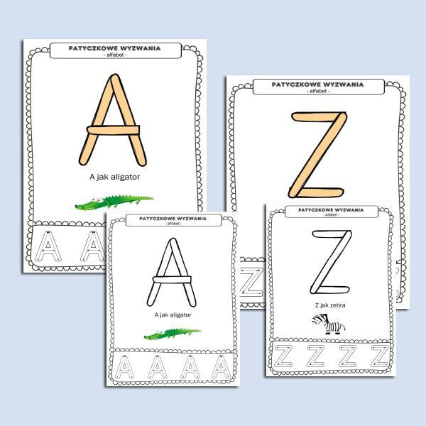 Patyczkowe wyzwania- alfabet