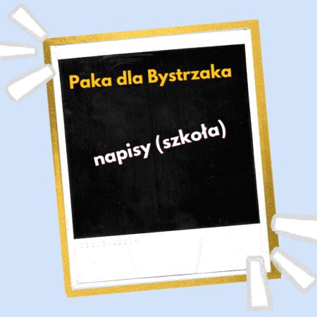 napisy szkoła