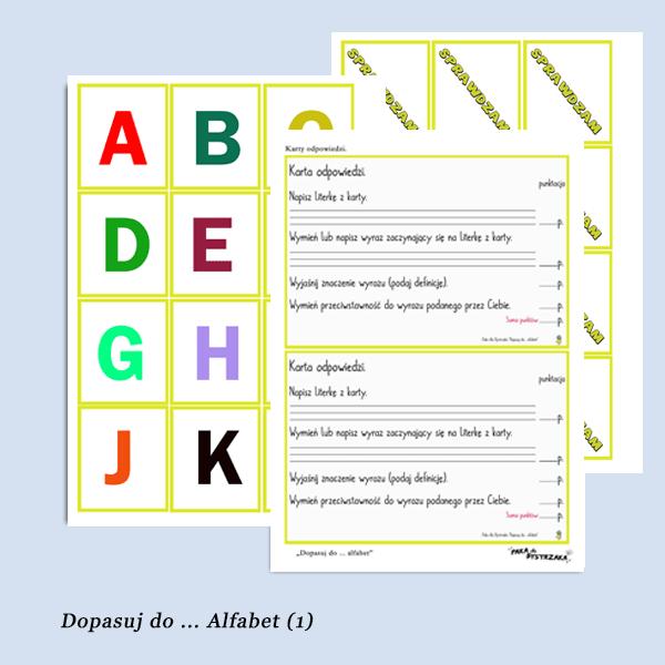 Dopasuj do .. alfabet 1