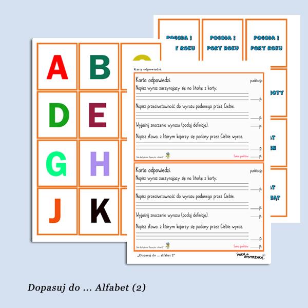 Dopasuj do .. alfabet 2