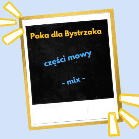 części mowy. mix