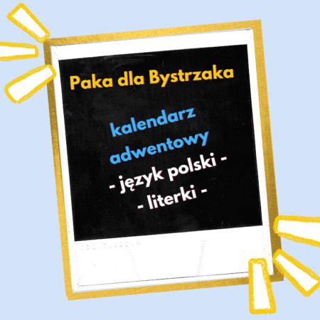 kalendarz adwentowy J. Polski Literki
