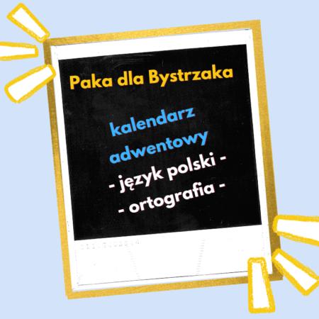 kalendarz adwentowy J. Polski ortografia